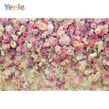 Yeele Pink Flowers Portrait Baby Wedding Curtain Photography Background Customized Photographic Backdrops For Photo Studio Props pastel pink color princess baby girl photo shoot background printed flowers newborn photography props kids portrait backdrops