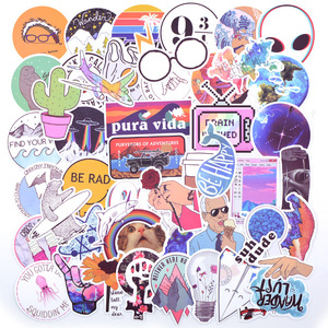 Image 1 - 20 스타일 Vsco 스티커 것들 50PCS 팩 쿨 핑크 소녀 스티커에 대 한 노트북 냉장고 전화 스케이트 보드 가방 스티커