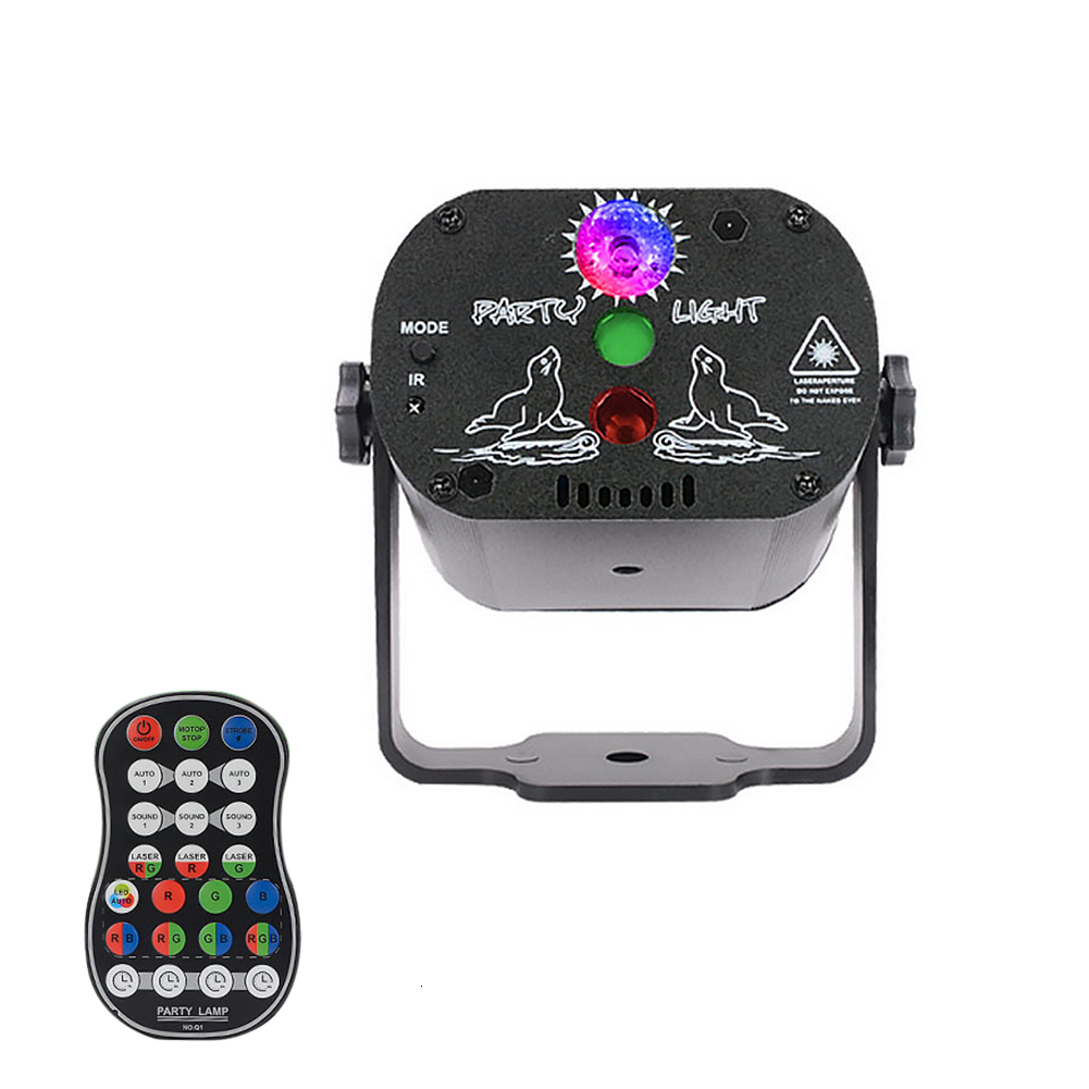 60 Patterns RGB LED Disco Light 5V USB Recharge RGB Laser Projection Lamp Stage Lighting Show For Home Party KTV DJ Dance Lights