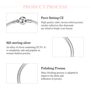 Image 5 - Authentic 100% 925 Sterling Silver twinkle Stars Snake Chain Cubic Zirconia CZ Classic Womens bracelets Bangle DIY Jewelry
