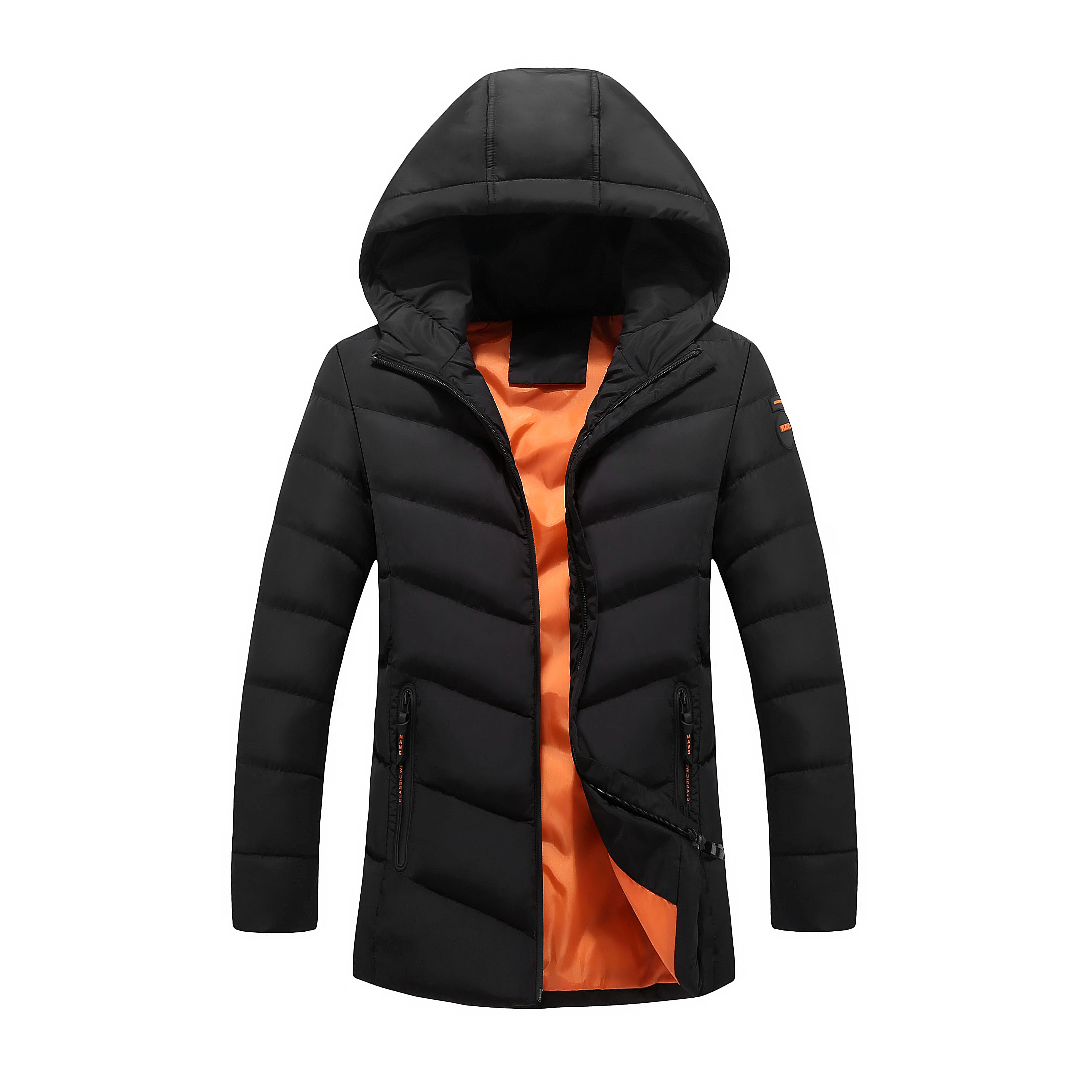 Woodvoice Casual Winter Jacket Men Warm Solid Hoodies Parka Man Brand Long Section Coat Male Thick Outwear Clothes Veste Hommes