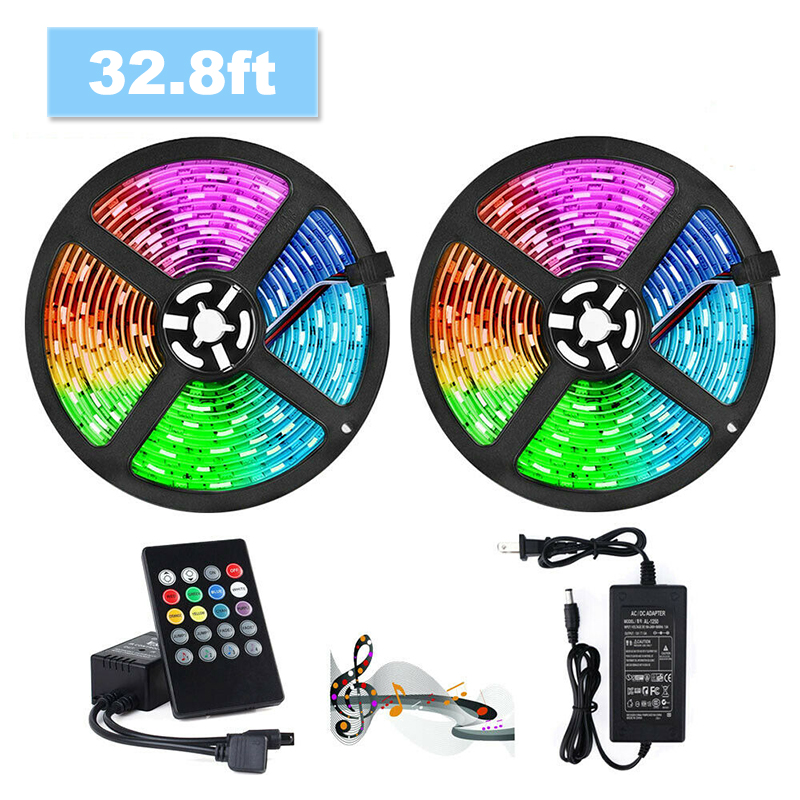 5M 10M LED Strip Lights 5050 RGB Colors Waterproof Outdoor LED Lighting Music Sync APP Remote Control Party Decoration Light