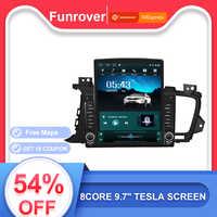 Funrover 9.7 Tesla dello schermo di Android 9.0 car multimedia video Player radio di navigazione gps Per Kia Optima 3 K5 2011-2015 nodvd 2din