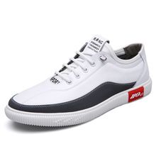 Whoholl 2019 Spring Men Casual Shoes Breathable Wear Resistant Comfortable Summer White Round Toe Lace Up Flat Snekaers 44