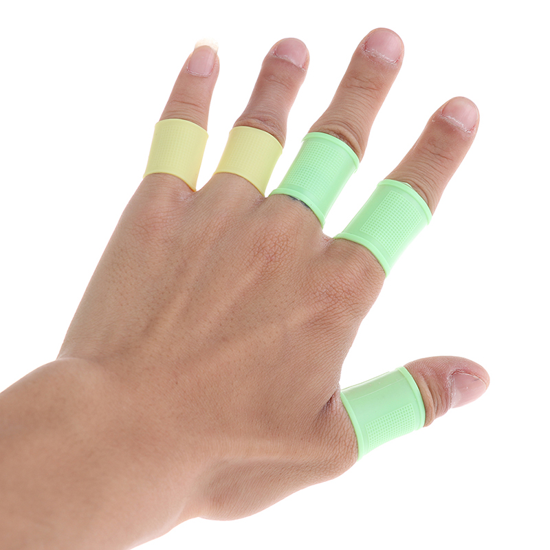8pcs/set Multi Color For Men Women Golf Finger Sleeve Elastic Silicone Grip Golf Finger Toe Support Sleeve Protector Grip
