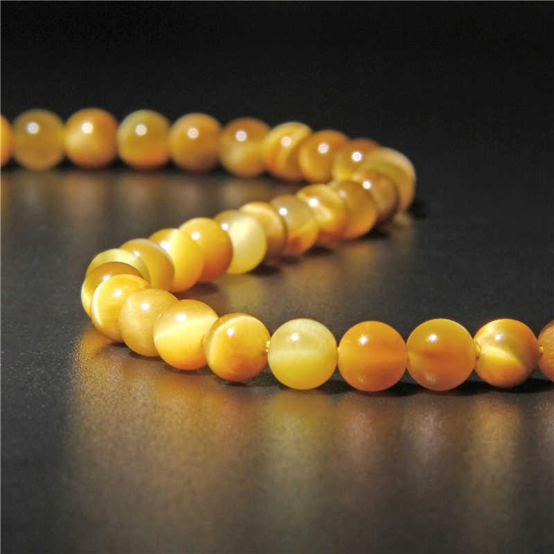 Naturalnego gatunku złoty tygrys oko kamień koraliki 6 mm 8 mm 10 mm 12 mm klejnot kamień polerowane kule dla DIY tworzenia biżuterii bransoletki