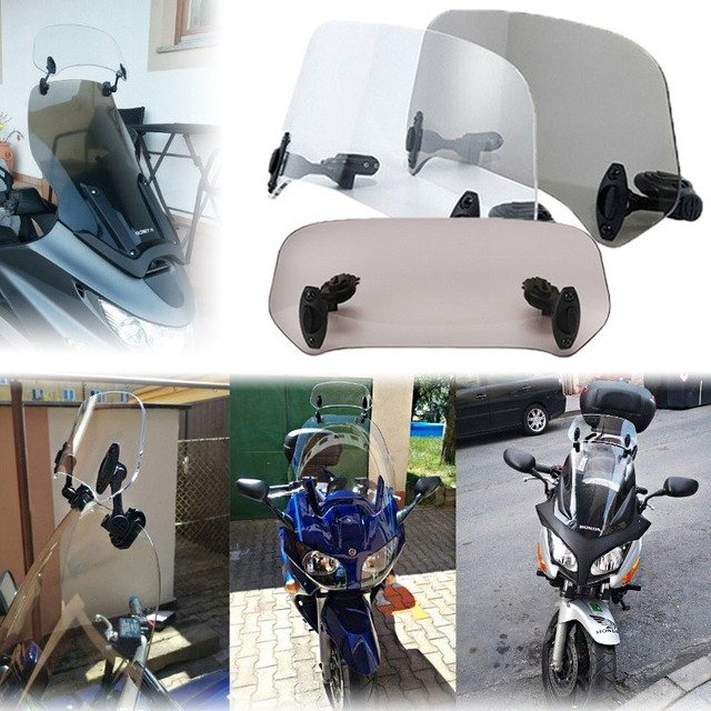 Motorcycle Parts Adjustable Clip On Windshield Extension Spoiler Windscreen Air Deflector For BMW Honda Suzuki Yamaha Kawasaki 1