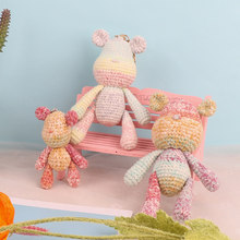 Nordic Style High Quality Knit Fabric Beer Family Toy Diy Knitting Bear Dinosaur Cotton Rope Plush Toy Birthday Gift Sets(China)