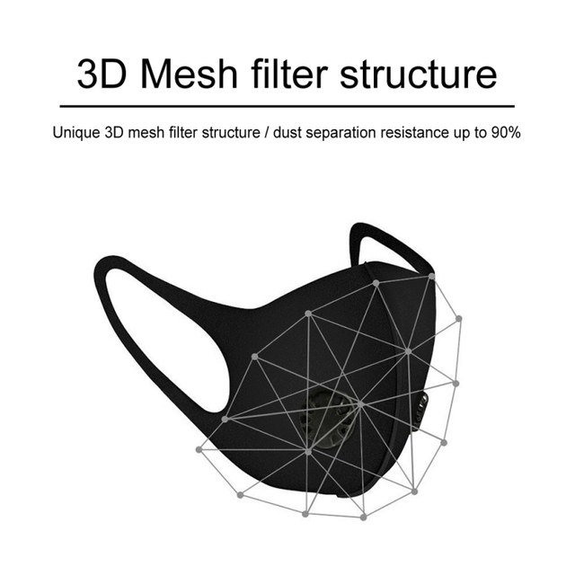 Tcare Anti Haze PM2.5 mouth Mask anti dust mask Activated carbon filter Mouth-muffle bacteria proof Flu Face mask Health Care 5