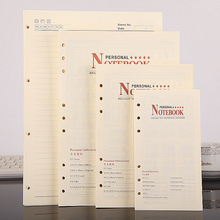 100 Sheets A4 A5 A6 B5 Loose-Leaf Notebook Refill Spiral Binder Index Inside Page Monthly Weekly Diary Planner Inner Pages