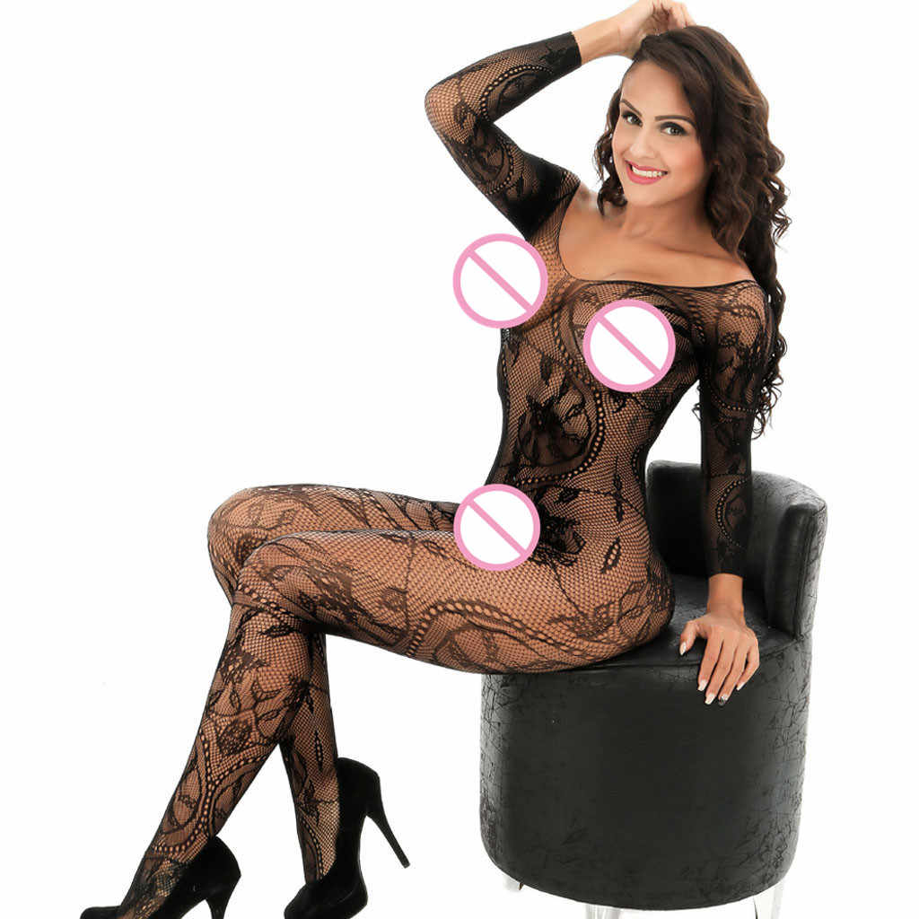 Body Sexy Lingerie Women Solid Bodystocking Catsuit Sexy Sheer Hot Erotic Lingerie Babydoll Underwear Body Stocking One Size A10