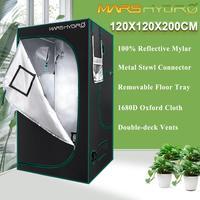 1680D Marshydro rosną namiot/Box 120*120*200 cm dla hydroponika kryty LED rosną systemu w Lampy do hodowli roślin od Lampy i oświetlenie na