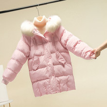 2020 New Winter Jacket Women Parka Big Fur Hooded Thick Down Cotton Parkas Female Jacket Warm Loose Coat Casual Outwear P1016