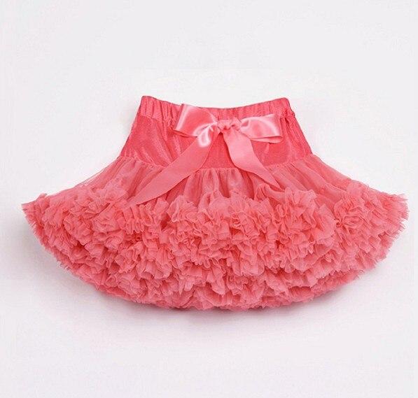 Юбка-пачка для малышей шифоновая юбка-пачка для девочек, детские юбки-американки, юбка для танцев Одежда для мамы и дочки - Цвет: coral