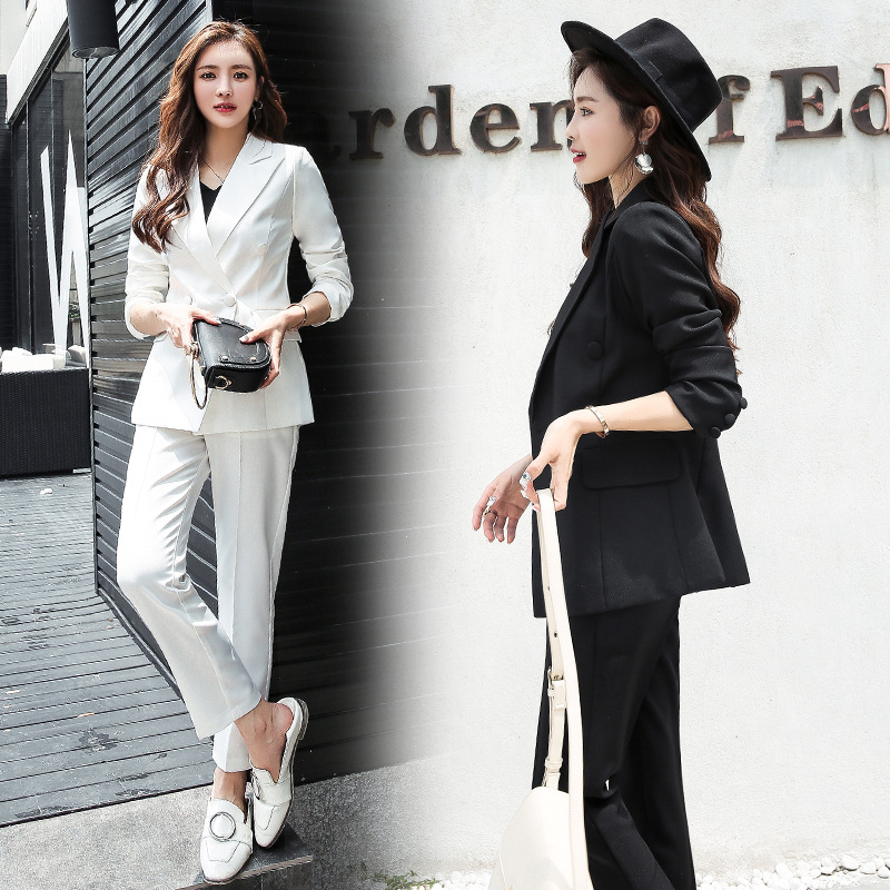 2019 Star Celebrity Style Three-Color Spring And Autumn Slim Fit Ol Small Suit Coat Business Suit-Style