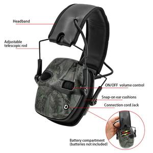 Image 4 - טבעות אוזן אלקטרונית טקטי אוזניות נגד רעש קול הגברה ירי ציד שמיעה הגנת מחממי אוזני מגן