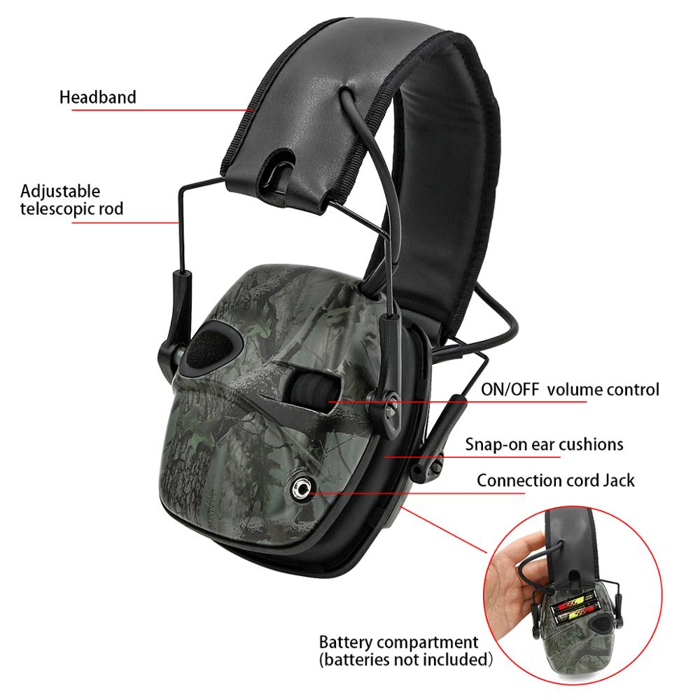 Image 4 - Electronic Ear muff Tactical Headset Anti noise Sound Amplification Shooting Hunting Hearing protection Protective EarmuffsEar Protector   -