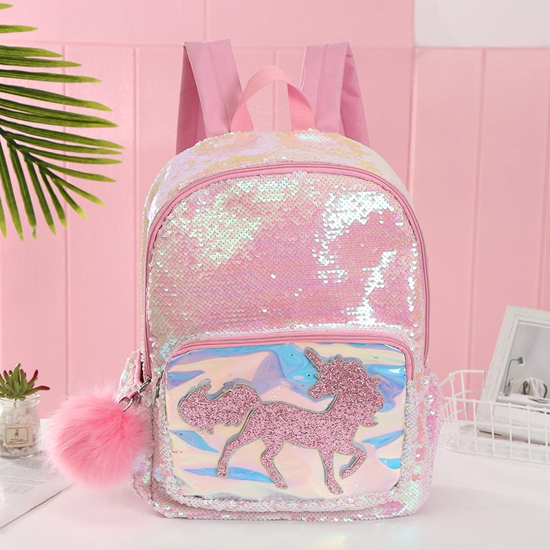 Unicorn Fashion  Women PU Leather Shoulder Bag For Teenage Girls Kids Multi-Function Small Bagpack Female Ladies School Backpack