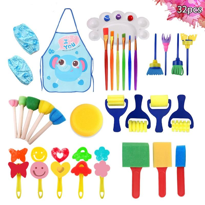 Children's Painting Set Painting Tools Kindergarten DIY Sponge Seal Painting Brush Painting Tools Art Supplies