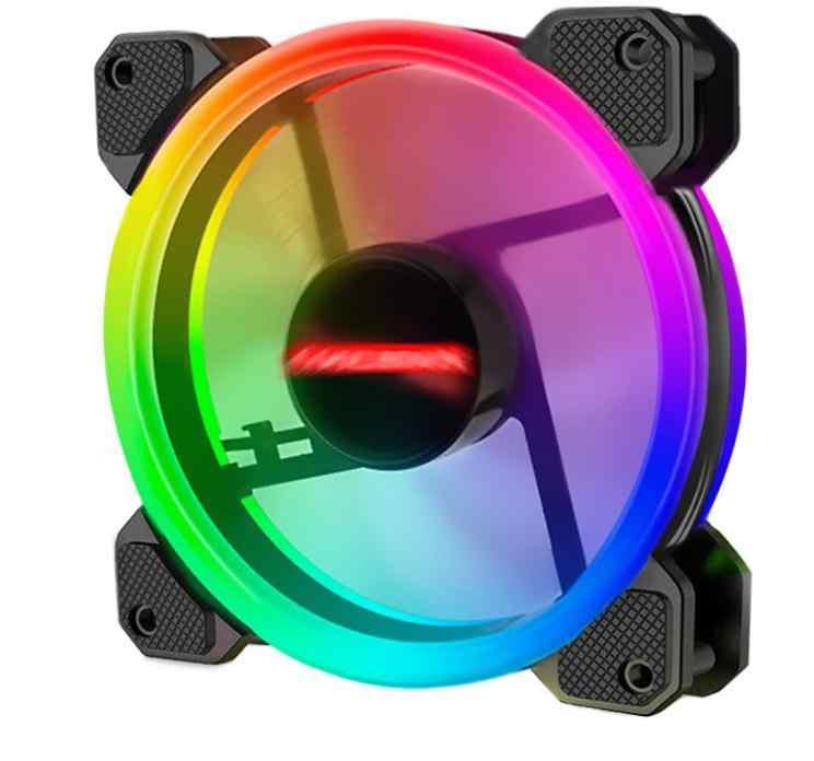 Ventilador rgb cpu 120mm ventilador ordenador PC ventilador con cubierta RGB ajuste LED ventilador velocidad 120mm ordenador remoto silencioso refrigeración RGB ventilador con cubierta s