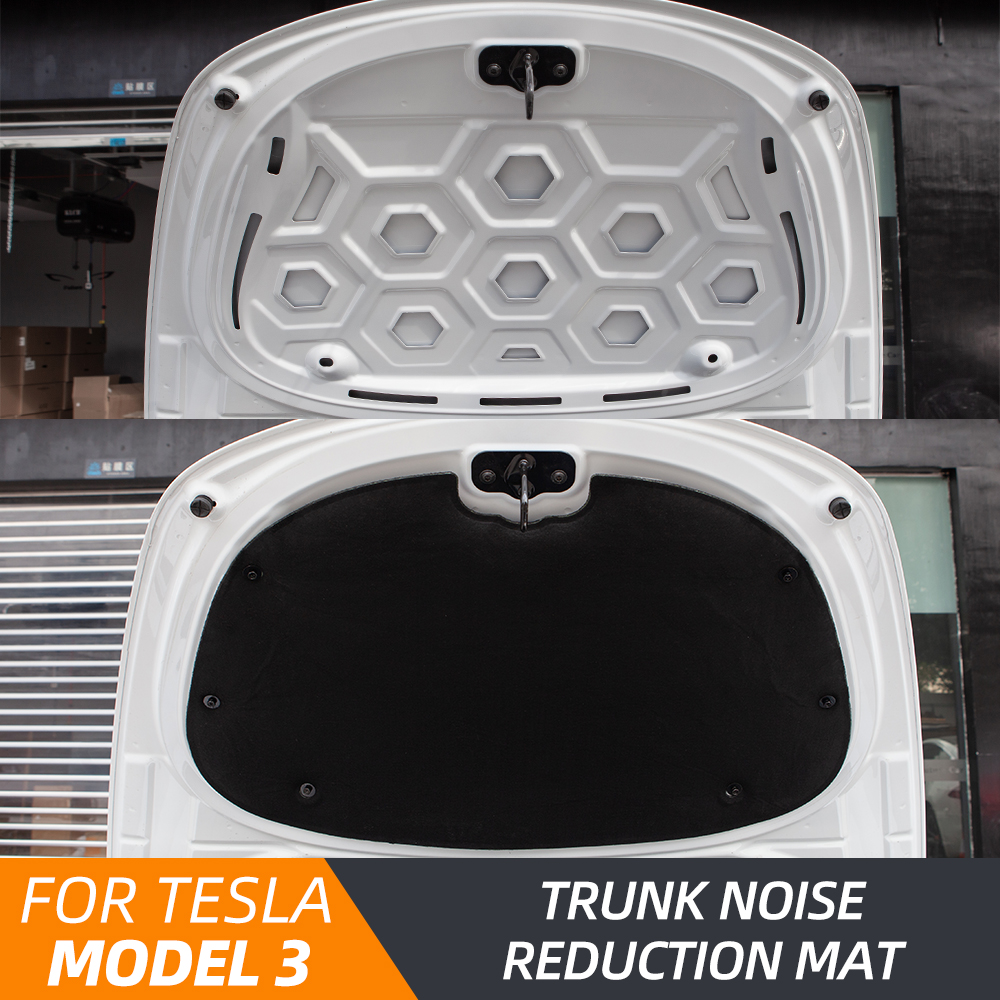 Heenvn Model3 Front Trunk Soundproof Cotton For Tesla Model 3 Accessories Sound Insulation Cover Shock Plate Hood Protective Pad
