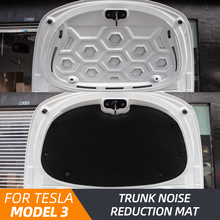 Model3 Front Trunk Soundproof Cotton For Tesla Model 3 2021 Accessories Sound Insulation Shock Plate Hood Protective Pad