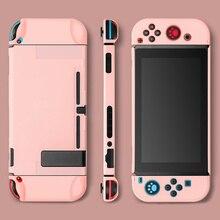 Цветной корпус переключателя Joy Con, чехол с полным покрытием, жесткий милый защитный чехол для ПК, аксессуары для игровой консоли Nintendo Switch