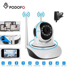 PODOFO Wireless WiFi IP Camera HD 1080P Surveillance Camera With Night Vision Motion Detection Indoor EU AU US UK Plug