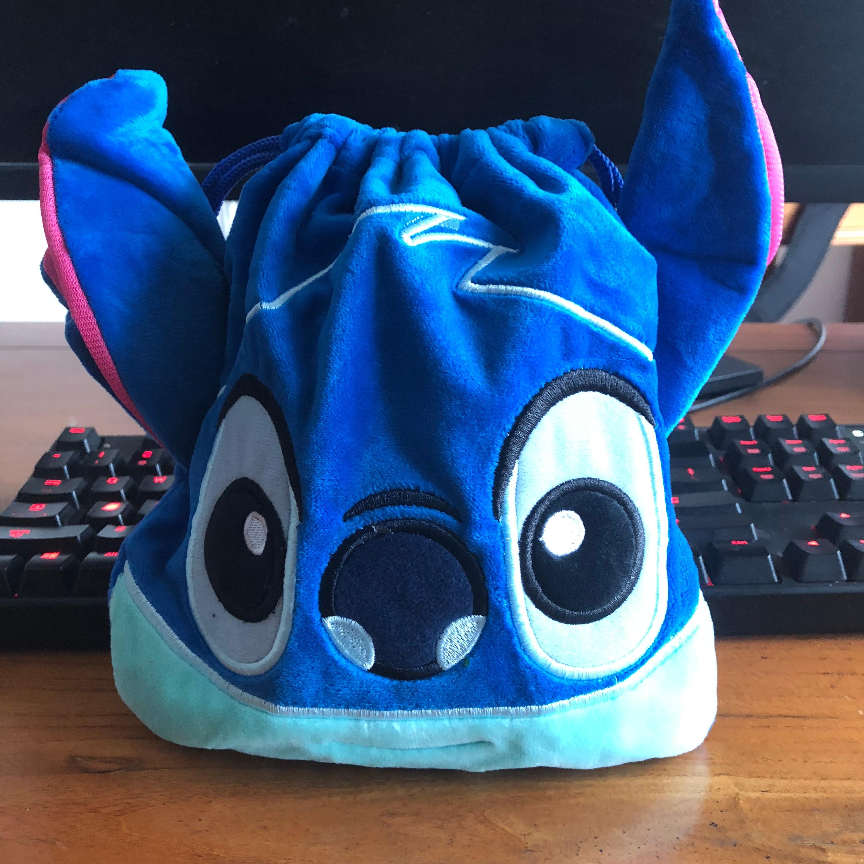 Stitch Smile Anime Drawstring Bags Plush Storage Handbags Makeup Bag Coin Purses Unisex NEW