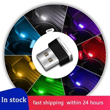 New Mini Colourful USB Light LED Modeling Car Ambient Light Neon Interior Light Atmosphere Light Emergency Lighting Car Jewelry image