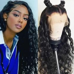 Ali Annabelle 13x6 koronkowe peruki z ludzkich włosów wstępnie oskubane włoskowate luźna koronkowa fala z przodu peruki z dziecięcymi włosami z przodu