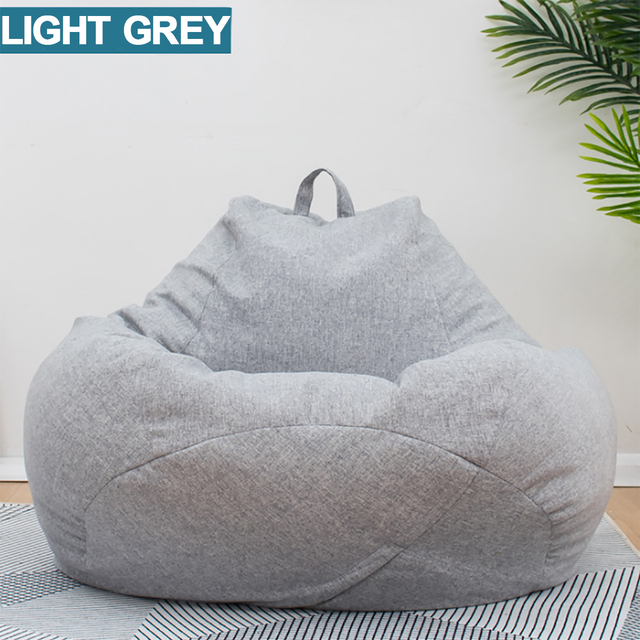 Lazy BeanBag Sofas Cover Chairs without Filler Linen Cloth Lounger Seat Bean Bag Puff asiento Couch Tatami Living Room Furniture 3