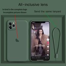 Silicone liquido iphone11 cassa del telefono della macchina fotografica all inclusive 11pro max originale nuovo 11pro di protezione delle lenti xs max anti autunno xr