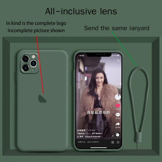 액체 실리콘 iphone11 전화 케이스 카메라 올인 클루 시브 11pro max 오리지널 뉴 11pro 렌즈 보호 xs max anti fall xr