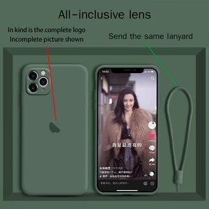 Image 1 - السائل سيليكون iphone11 جراب هاتف كاميرا شاملة للجميع 11pro ماكس الأصلي جديد 11pro عدسة حماية xs ماكس مكافحة سقوط xr