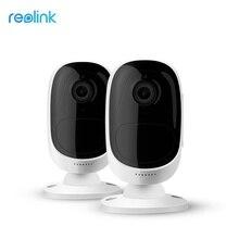 [2 חתיכות] Reolink ארגוס אלחוטי WiFi משלוח סוללה מופעל IP מצלמה מלאה HD 1080P חיצוני IP65 עמיד אבטחת מצלמה