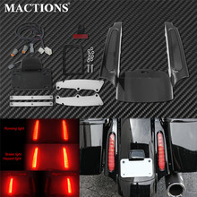 Motorcycle LED Light Rear Fender Fascia Set Bright Black For Harley Touring Electra Glide Classic  Road King CVO Street Glide