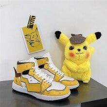 Обувь для катания на коньках; Новинка; мужская обувь на шнуровке; повседневная обувь; Пикачу; Жемчуг дракона; высокие кроссовки для мужчин