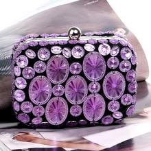 Fashion Diamonds Evening Party Bag For Women Clutch Luxury Chain Ladies Shoulder Messenger Bags Chic Female Handbags Purses New недорого