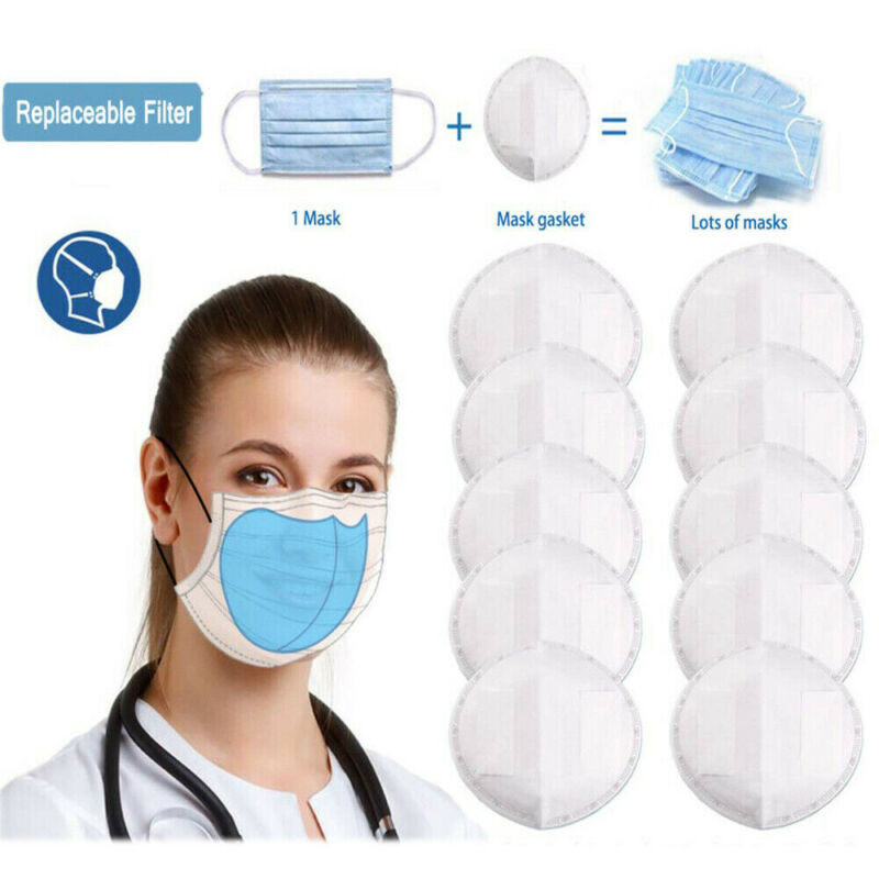 2020 Newest Hot 50pcs Disposable 3 Layer Dust Mask Filter Face Mask Gasket Anti Dust Haze Cloth Anti Virus