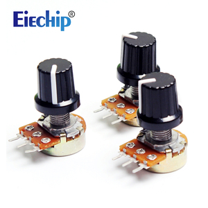 5pcs/lot 10K OHM Potentiometer Resistor WH148 B10k ohm 3 Pin Linear Taper Rotary Potentiometer for Arduino with Cap(China)