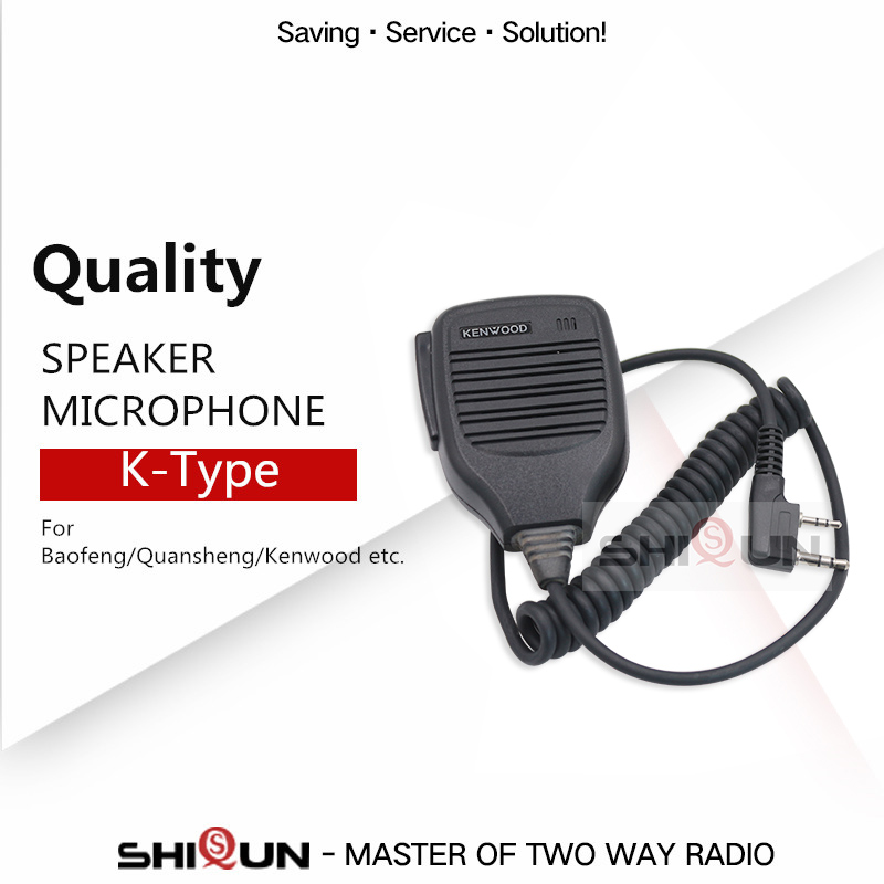 Handheld Walkie Talkie Microphone Speaker MIC For Baofeng Quansheng TG-UV2 Plus TYT TH-UV8000D TH-UV8000E DM-UVF10 MD-380 MD-390