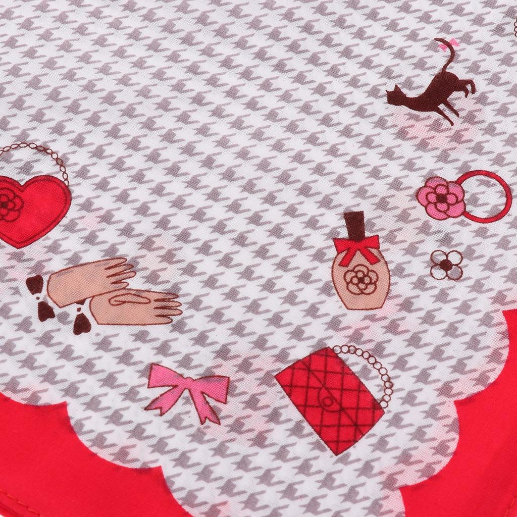 3 PCS Womens Vintage Floral HandkerchiefsGirls Cute Cotton Handkerchiefs Wedding Party Cotton Handkerchiefs 28 x 28cm