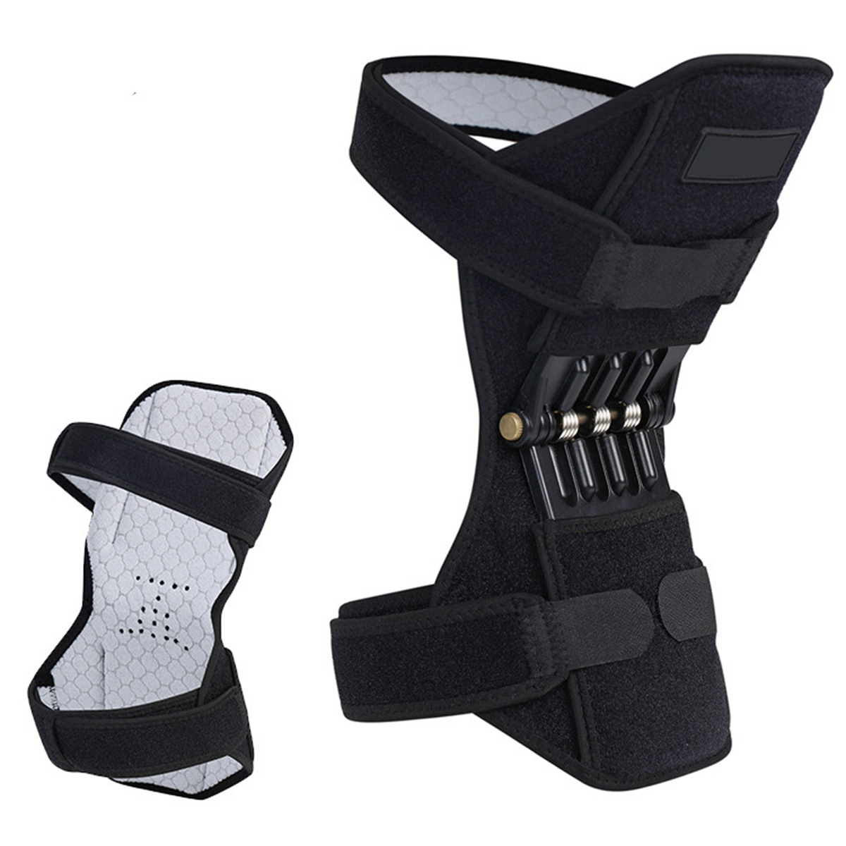 1Pcs Joint Support Knee Pads Rebound Power Spring Force Knee Stabilizer Power Lift Brace Knee Support Leg Care Treatment Tool