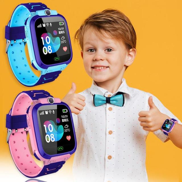 Children Smart Watch Camera Lighting Touch Screen SOS Call Touch Screen LBS Tracking Location Finder Kids Baby Smart Watch 1