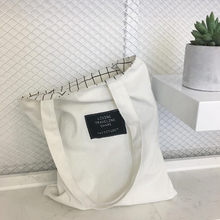 Saco de lona casual grande capacidade xadrez reutilizável mercearia mulheres saco de compras uso diário bolsas dupla face shopper saco ombro