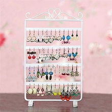 48 Holes Jewelry Organizer Stand Earring Holder Bracelet Chain Watch Rack Jewelry Display Packaging Ring  Display Stand Holder transparent acrylic earring holder organizer hanger display stand with 48 holes detachable