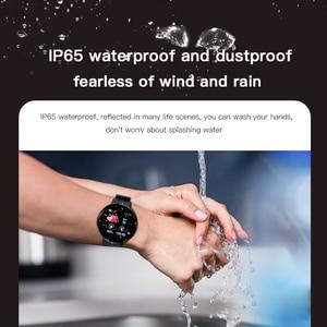 Image 4 - 2019 بلوتوث ساعة ذكية الرجال ضغط الدم جولة Smartwatch النساء ووتش D للماء جهاز تعقب للياقة البدنية ال WhatsApp لالروبوت iOS