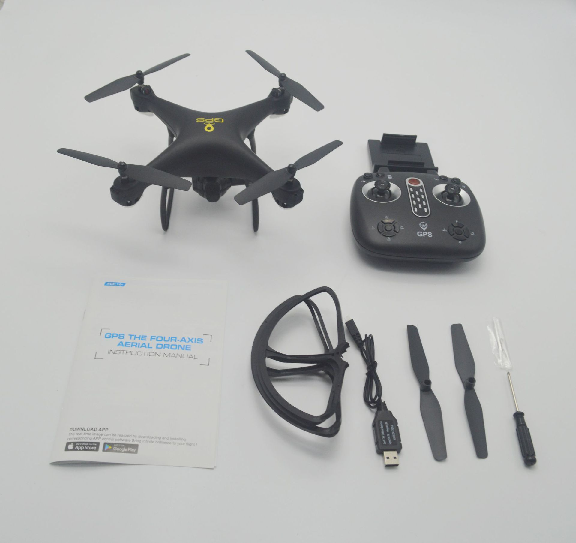 Lh-x25 Double GPS Positioning Return Unmanned Aerial Vehicle High-definition Aerial Remote-control Aircraft With Follow Quadcopt