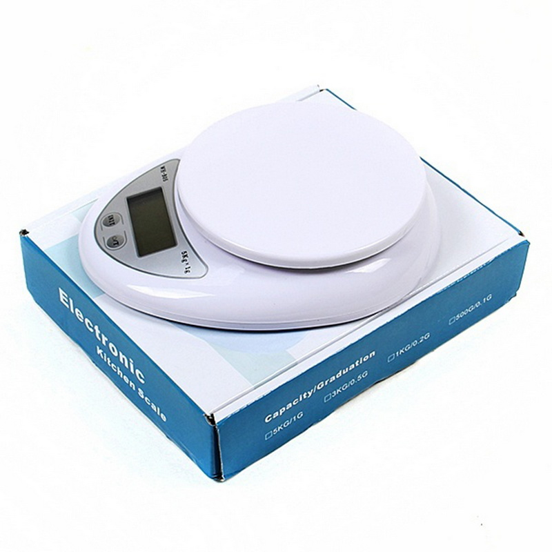 5000g/1g Electronic Digital Kitchen Food Scale 5kg Kitchen Food Diet Postal Scale Weight Scales Balance Weighting Tool LED